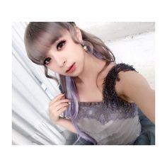 ヘアもドレスにあわせてグレーに。  淡いパープルのエクステをつけて。ボリュームと長さを。パープルとグレーの組み合わせ好き。    アイメイクはキラキラーーーっ✨   大好きをいっぱい詰め込んだの。    #desir #衣装 #make #fashion #8月23日 #リリース #GARNiDELiA #purple #hairstyle What's Trending, Her Music, Some Pictures, Ulzzang, Idol, Japanese, Instagram Posts, Image, Beauty