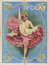 Soyouthinkyoucansee  Vintage Circus Dance Poster 1907