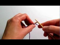 Really Clear Video: How to Add Stitches at the Edge of Knitting (e-wrap, knitted cast on, cable cast on)