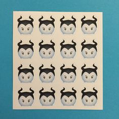 Maleficent Tsum Tsum Inspired Mini Stickers - for Planners, Notebooks, Calendars and more!