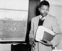 Nelson Mandela at work in the Johannesburg office where he and Oliver Tambo practised law together during the apartheid era. Nelson Mandela, Gil Scott Heron, Human Rights Activists, First Black President, Black Presidents, Robert Evans, Apartheid, Nobel Peace Prize, Hopes And Dreams