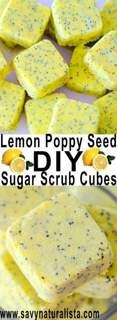 With this easy tutorial you can make your own lemon poppy seed inspired Scrub cubes The lemon esential oil scent is amazing!
