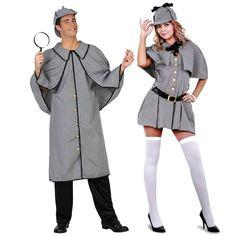 Pareja Detectives Sherlock #parejas #disfraces #carnaval #novedades2016 Gnome Costume, Halloween Costumes, Detective Sherlock Holmes, Halloween Disfraces, Facon, Spy, Mini Skirts, Ideas, Halloween Parties