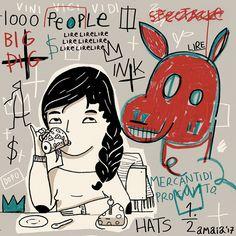 """A coffee with Basquiat"" by Amaia Arrazola"