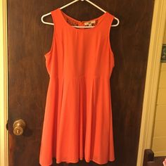 Beautiful Orange Flowy Lace Back Dress Love this dress ! Feels so wonderful on and flows every time you move. Has nice lace in back too ! YA Los Angeles Dresses Mini