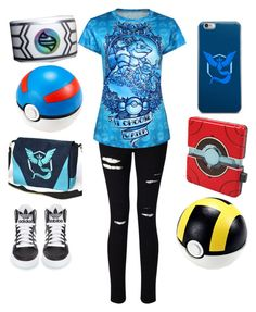 """""""Pokemon GO - Team Mystic"""" by morgansmnm on Polyvore featuring Miss Selfridge, adidas and Valor"""