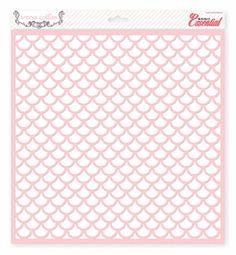 Teresa Collins Designs - Basically Essential Collection - 12 x 12 Stencil - Scallop
