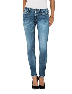 Replay Damen Jeans Hose gerades Bein Gr W27 L32 NEU