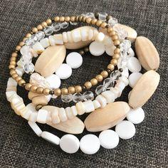 Bohemian Jewellery, Layered Bracelets, Bracelet Set, Etsy Seller, Beaded Necklace, Jewelry Making, Pearls, Boho, Beaded Collar