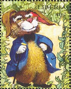 Liberia's children's literature stamps in 1998 included this tribute to Beatrix Potter's Peter Rabbit