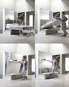 Sofa with a bed hidden in the wall   I New Idea Homepage