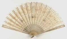 1880 Fan Culture: American Medium: silk, lace