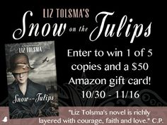 Enter to win $50 to Amazon and a copy of Snow on the Tulips during Liz Tolsma's Amazon Reader Pack giveaway!