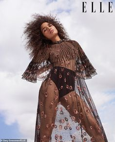 Indya Moore sports bouncy curls for Elle magazine Elle Magazine, Transgender Model, Elle Us, Bouncy Curls, Fashion Magazine Cover, Looks Street Style, Star Wars, Glamour, Looking Gorgeous