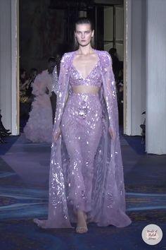 Elegant Dresses For Women, Dressy Dresses, Party Wear Dresses, Two Piece Evening Dresses, Purple Evening Gowns, Classy Wedding Dress, Grecian Dress, Queen Dress, Zuhair Murad