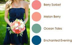 April 2015 Color Play: Berry Sorbet, Melon Berry, Ocean Tides, Enchanted Evening