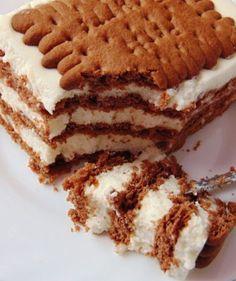 rozczochrane okruszki: Zebra z herbatników i bitej śmietany. Cute Desserts, Dessert Recipes, Birthday Cakes For Teens, Teen Birthday, Polish Recipes, Specialty Cakes, Tiered Cakes, No Bake Cake, Food To Make