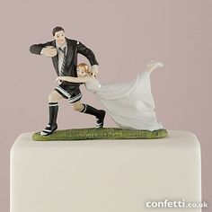 'A Love Match' Rugby Couple Figurine