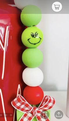 Grinch Christmas Party, Winter Christmas, Christmas Ornaments, Christmas Projects, Holiday Crafts, Holiday Fun, Wood Bead Garland, Beaded Garland, Bead Crafts