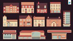 Building Vectors by Motional , via Behance