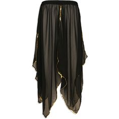 Sheer Belly Dance Panel Skirt Black - at DancingRahana.com found on Polyvore