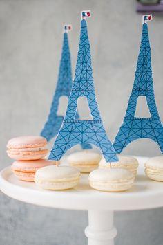 Macaron Eiffel Tower printable
