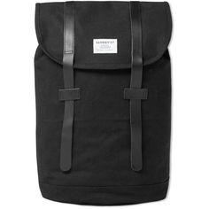 Sandqvist Stig Backpack ($135) ❤ liked on Polyvore featuring men's fashion, men's bags e men's backpacks