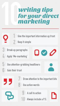 10 writing tips for your direct marketing