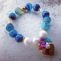 Blue agata by Luz Marina Valero