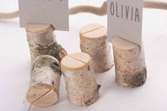 50 pieces rustic birch place card holders, Wedding card holders, name card holders, wooden place card holders, wooden holder with bark by SnakeInChest on Etsy https://www.etsy.com/listing/180763119/50-pieces-rustic-birch-place-card