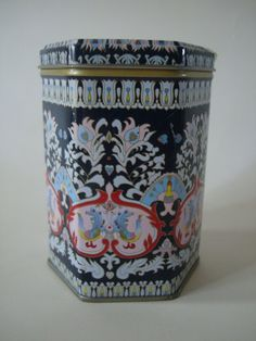 Vintage Decorative Tin Tea Container Lovely by HighPointFarm2010, $8.00