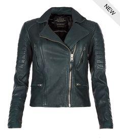 AllSaints | AllSaints Forest Leather Biker Jacket | Womens Leather Biker Jackets