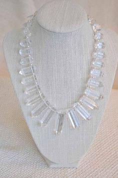 Stunning Quartz Crystal Graduated Necklace - $35          #dteam