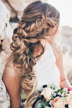 These pretty wedding hairstyles form Hair & Makeup by Steph are all we could ever want when it comes to bridal beauty. This Utah-based stylist does the best job of making each braid and updo seriously Pretty Hairstyles, Easy Hairstyles, Bridal Hairstyles, Hairstyles 2016, Bridesmaid Hairstyles, Elegant Hairstyles, Bridesmaid Long Hair, Bridesmaids, Hairstyles Pictures