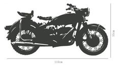 Motorcycle wall decal for room or garage