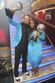 Derek Hough and Amber Riley the new champion of Dancing with the Stars 2013