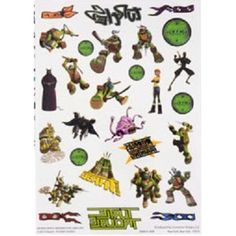 Teenage Mutant Ninja Turtles Temporary Tattoos, Package of 28 * For more information, visit image link. (This is an affiliate link) #TemporaryTattoos