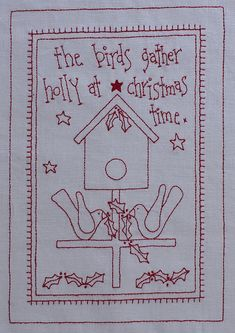 Free Redwork Designs for Christmas | Rosalie Quinlan Designs: Christmas redwork give away!