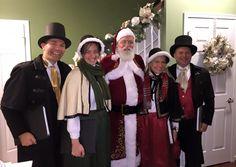Olde Towne Carolers provide Santa as well! #OldeTowneCarolers #Carolers #Victorian Carolers #Santa #RealBeardSanta