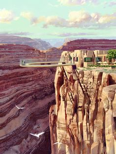 """""""The Grand Canyon Skywalk is a transparent horseshoe-shaped cantilever bridge and tourist attraction in Arizona near the Colorado River on the edge of a side canyon in the Grand Canyon West area of the main canyon. Commissioned and owned by the Hualapai Indian tribe, it was opened to the general public on March 28, 2007."""""""