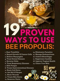 From Pharyngitis to Cold Sores: 19 Proven Ways To Use Bee Propolis via DailyHealthPost Propolis Benefits, Bee Propolis, Autogenic Training, Bee Facts, Bee Pollen, Cold Sore, Forever Living Products, Natural Health Remedies, Holistic Remedies