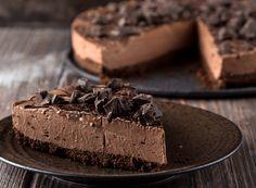 Τσιζκέικ ψυγείου με σοκολάτα! | Sweets Recipes, Baking Recipes, My Best Recipe, Confectionery, Chocolate Desserts, Food Network Recipes, Food To Make, Food Porn, Treats