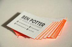 Letterpress Business Cards  Color  Side Color Edges  Pt