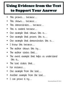 list of attention getters hooks and sentence starters in  common core booster text based answers sentence writing prompts