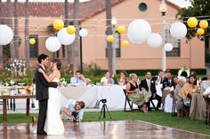 style me pretty - real wedding - usa - california - san diego wedding - ntc promenade at liberty station - bride & groom - first dance