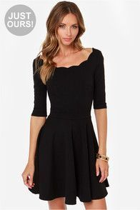 Nice Formal Dresses LULUS Exclusive Tip the Scallops Black Dress... Check more at http://mydresses.cf/fashion/formal-dresses-lulus-exclusive-tip-the-scallops-black-dress/