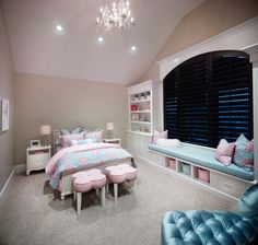 2014 Parade Home - Alpine - transitional - Bedroom - Salt Lake City - Joe Carrick Design - Custom Home Design, what a beautiful room for any girl