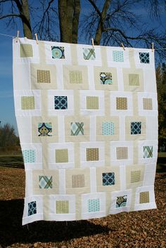Freshly Pieced: Modern Meadow Baby Quilt