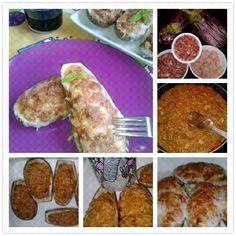 La cocina de Pssssss: BERENJENAS RELLENAS CON JAMON Y GAMBAS