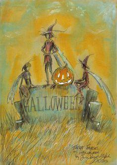 """""""Three Fairies at Sunset on Halloween"""" Copyright John Randall York"""